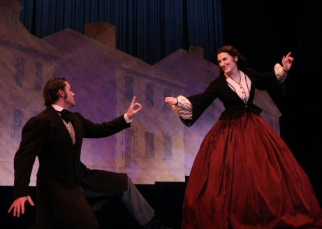 Victoria Huston-Elem (Jo March) and Dane Stokinger (Laurie) in Little Women.