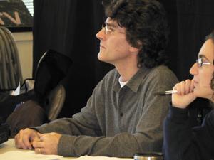 Sean Hartley, at rehearsal