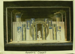 AIDA set designer Carey Wong's model setting of Amneris' closet