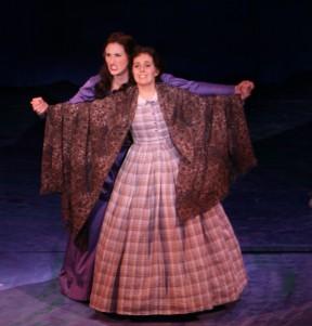 Victoria Huston-Elem as Jo March and Michaela Koerner as Beth March in Little Women