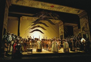 Seattle Opera presents Michael Yeargan and Peter J. Halls production of Verdi's AIDA at McCaw Hall in August 2009