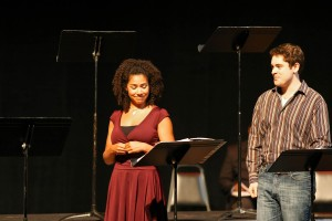Tanesha Ross as Nicolette in the Festival of New Musicals reading of Chasing Nicolette