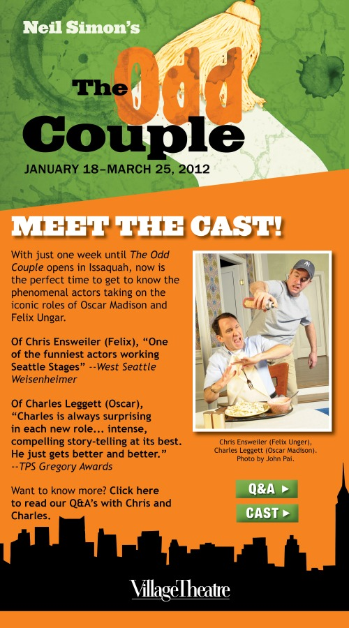 Meet the Cast of THE ODD COUPLE