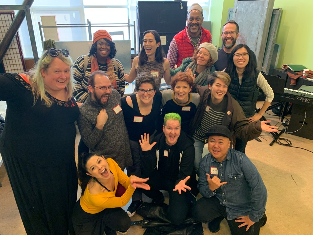 The MISS STEP writers, cast, and creative team at the 2019 residency and table read.